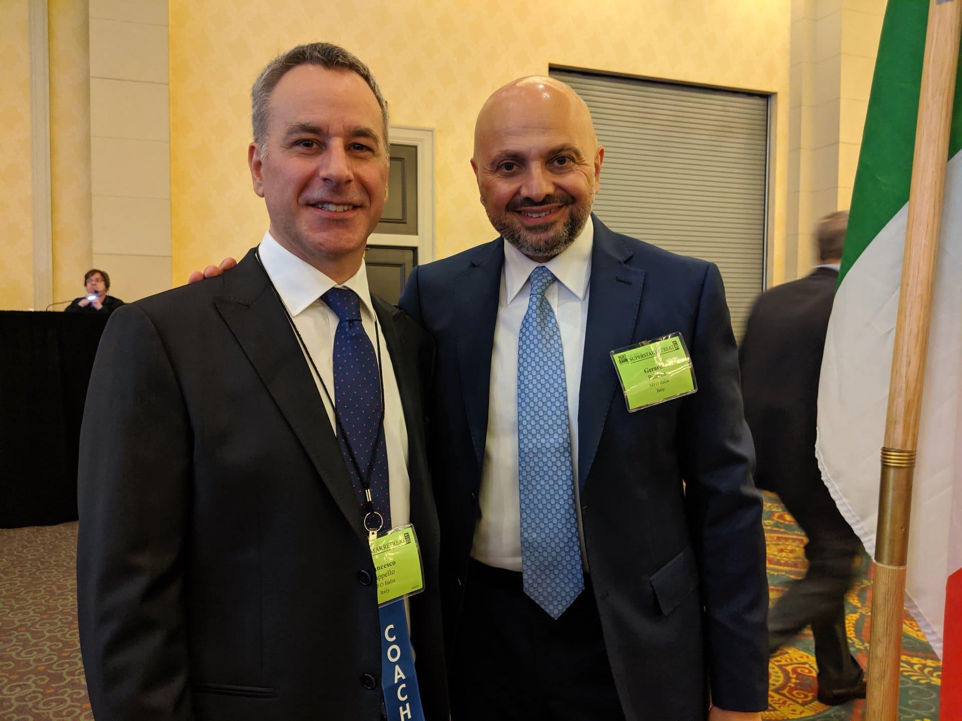 Gerardo con Francesco Cappello, interprete e coach trainer