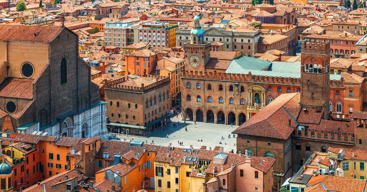 Vista sulla città di Bologna